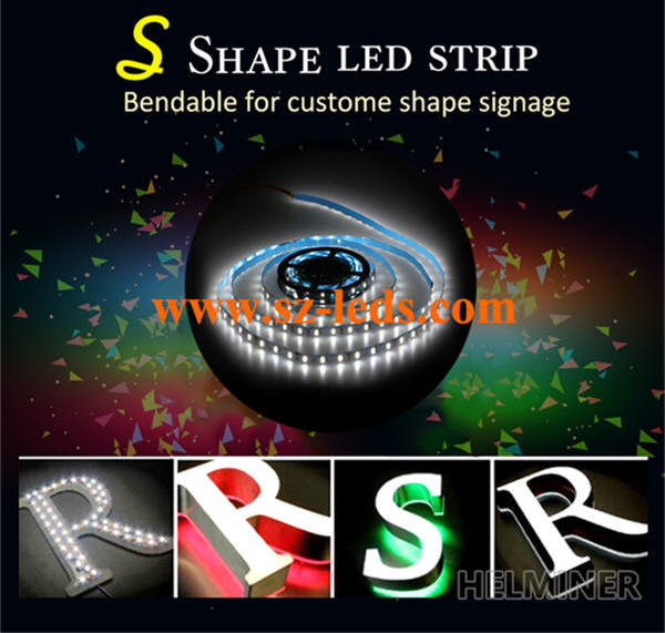 snake led strip, bend strip led, S shape strip led